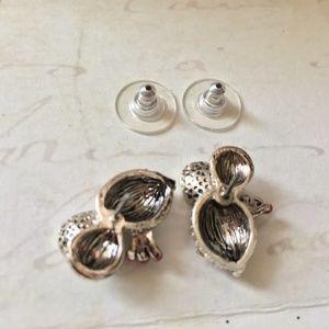 Betsey Johnson Jewelry - Betsey Johnson Silver Woodland Critters Studs